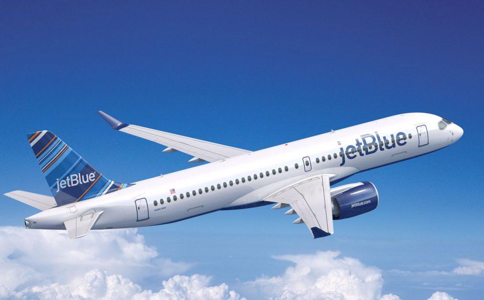Airbus A220-300 v barvách společnost JetBlue. Foto: Airbus