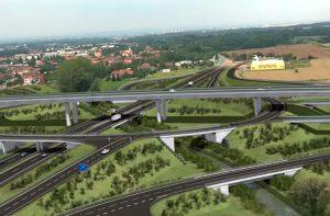 Vizualizace stavby D35 v úseku Opatovice nad Labem - Časy. Foto: ŘSD