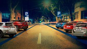 Parkování hybridů na zónách placeného stání. Foto: Toyota