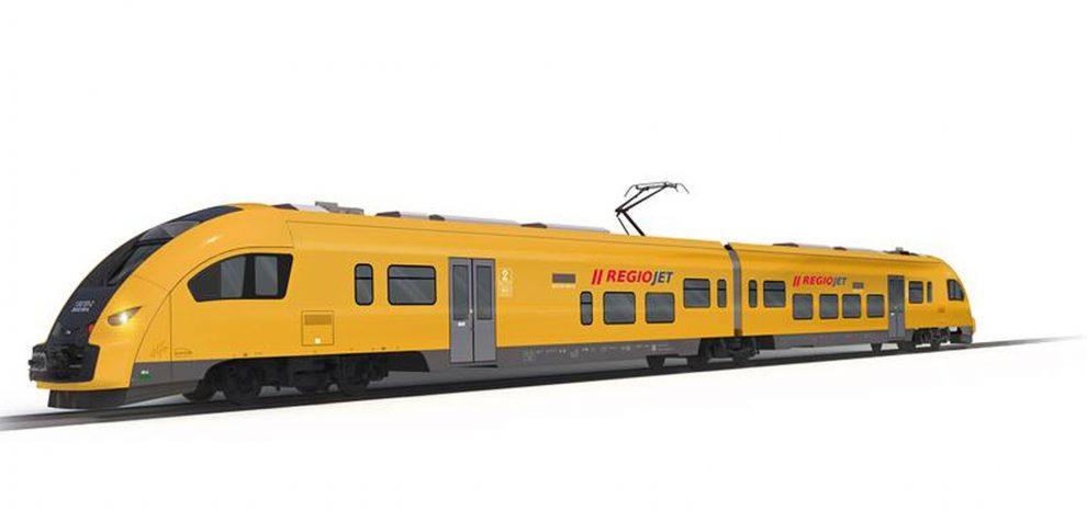 Jednotka Pesa Elf II v barvách RegioJetu. Foto: RegioJet