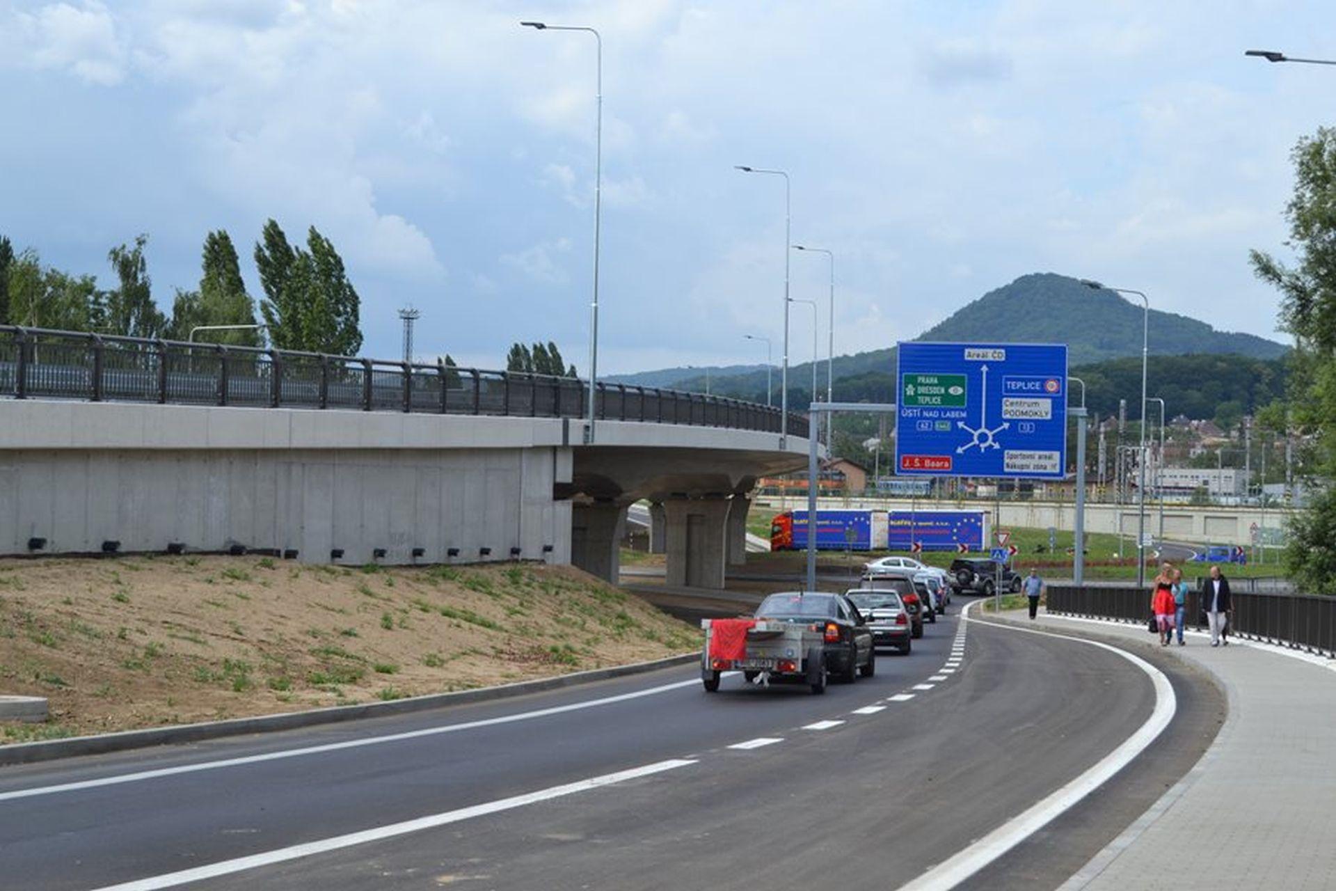 Nově dokončená silnice I/62 v Děčíně. Foto: Ministerstvo dopravy