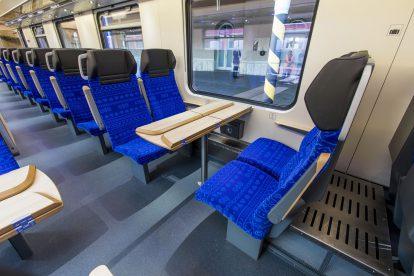 Interiér nového vozu Bmpz pro ZSSK. Foto: ZSSK