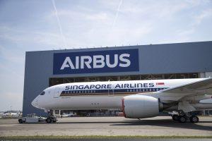 A350-900ULR pro Singapore Airlines po dokončení lakování. Foto: Airbus