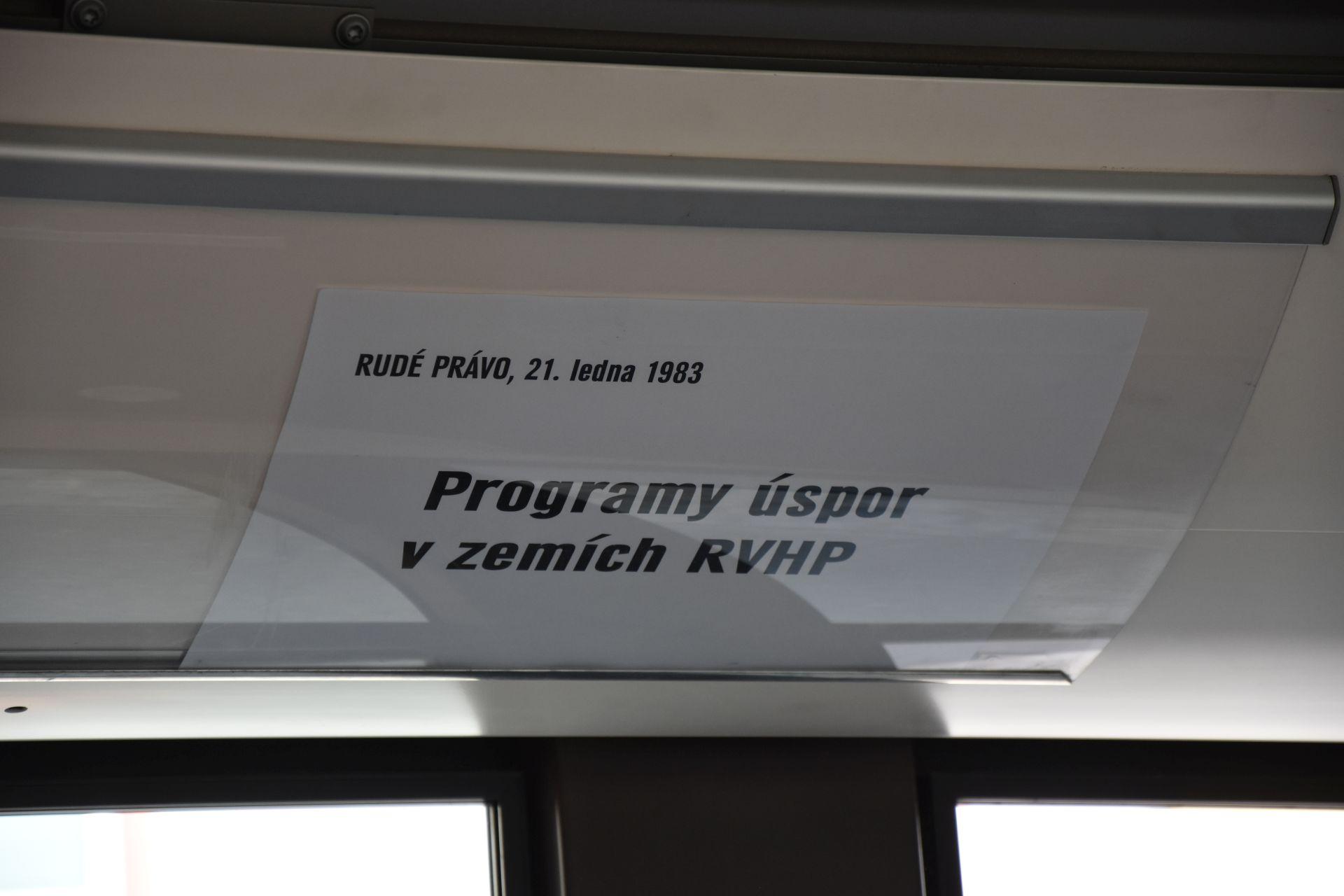 Vozidla opavské MHD zdobí socialistická hesla. Autor: Lukáš Klíma
