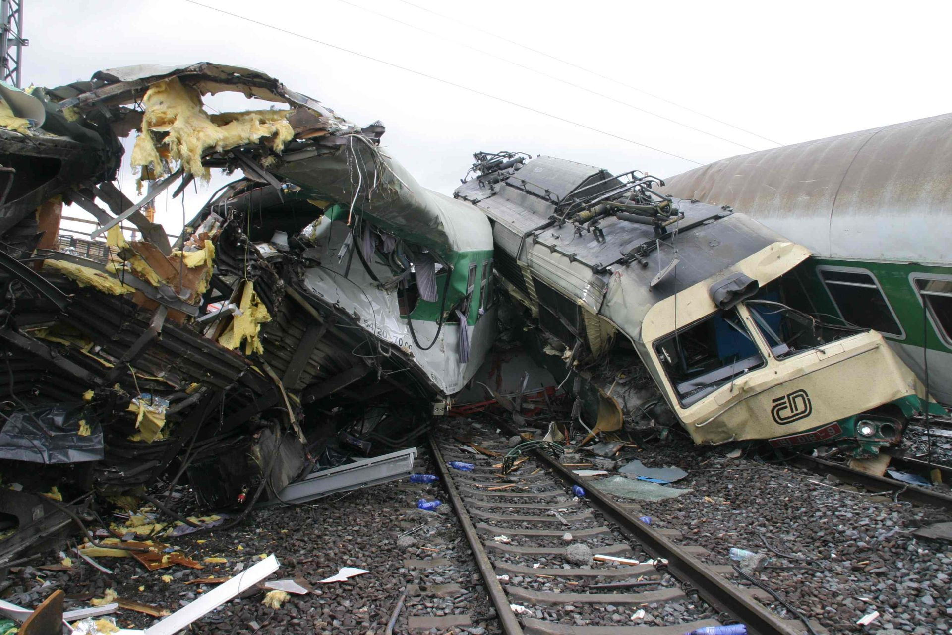 Nehoda u Studénky 8. srpna 2008. Autor: České dráhy