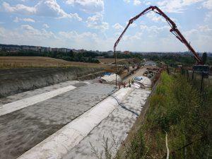 Betonování výjezdového portálu. Foto: Václav Anděl - Metrostav