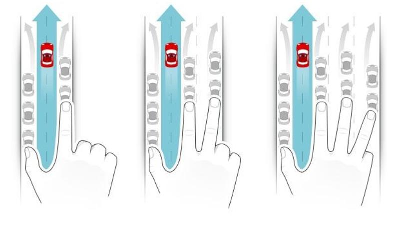 Nový způsob řazení v případě kolony a nutnosti projetí záchranářských vozidel. Foto: MDČR