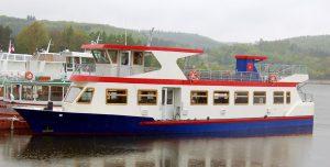 Dvoupalubová loď Lipsko, která je v provozu na Brněnské přehradě. Foto: DPMB