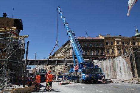Rekonstrukce Negrelliho viaduktu. Foto: Hochtief