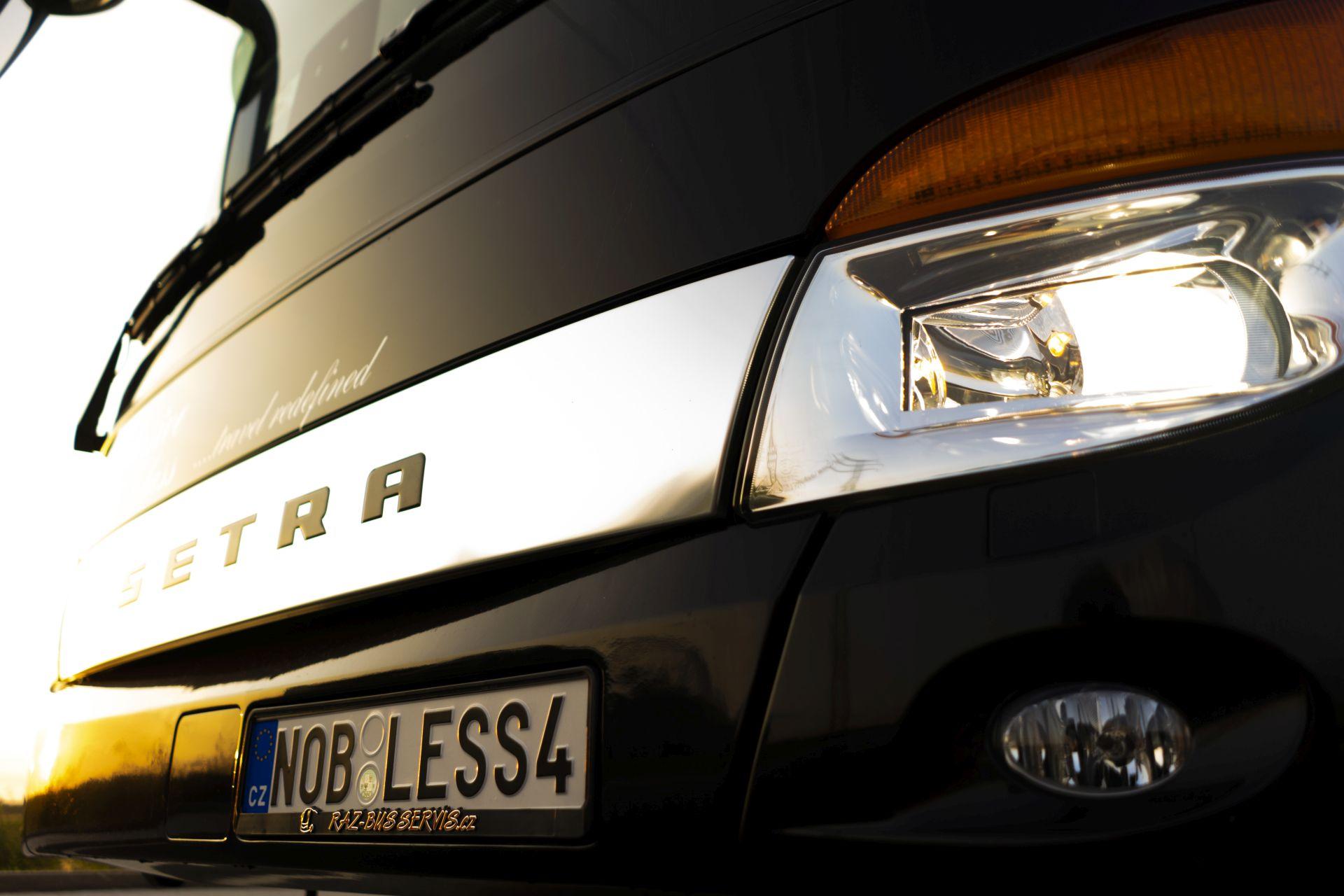 Autobus Setra společnosti Nobless Line pro linku do Švýcarska. Foto: Nobless Line