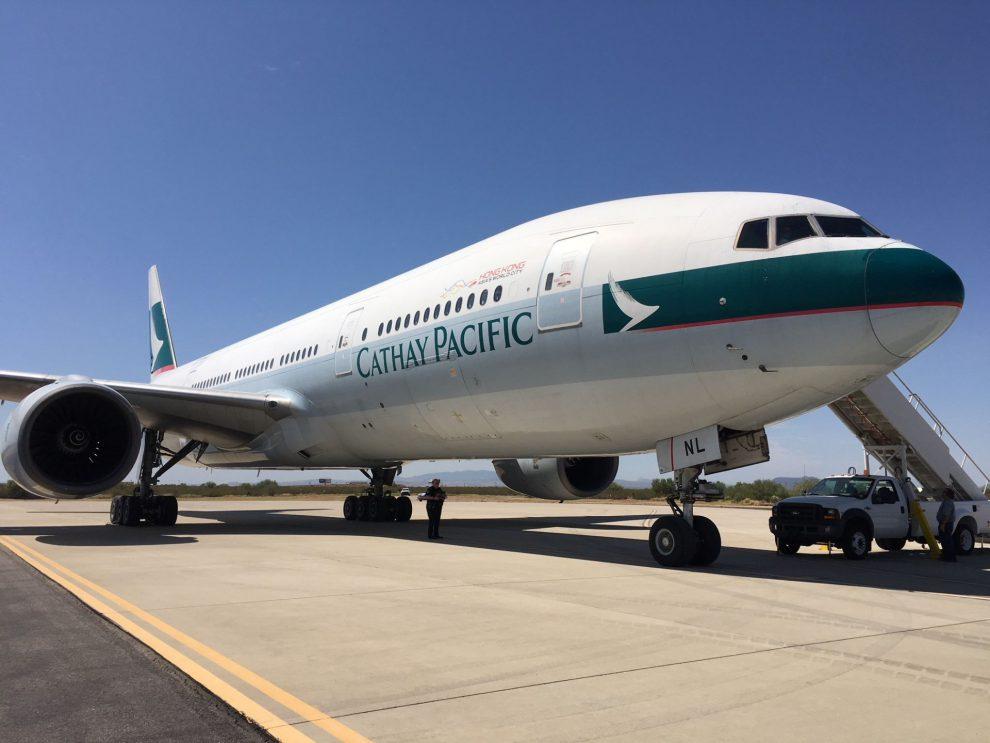 Boeing 777-200 po svém posledním letu do muzea Pima Air & Space Museum v Arizoně. Foto: Boeing
