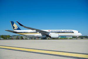 Airbus A350-900 ULR před startem dodávacího letu z Toulouse do Singapuru. Foto: Singapore Airlines