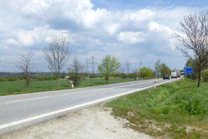 Silnice I/20 mezi Pískem a ČB dávno nesplňuje požadavky na bezpečnost. Pramen: ŘSD/dokumentace EIA