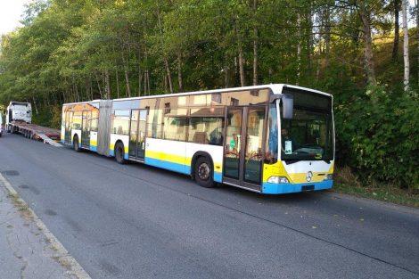 Autobus Mercedes Citaro, který koupil Dopravní podnik měst Liberce a Jablonce v německém Schwerinu. Foto: DPMLJ