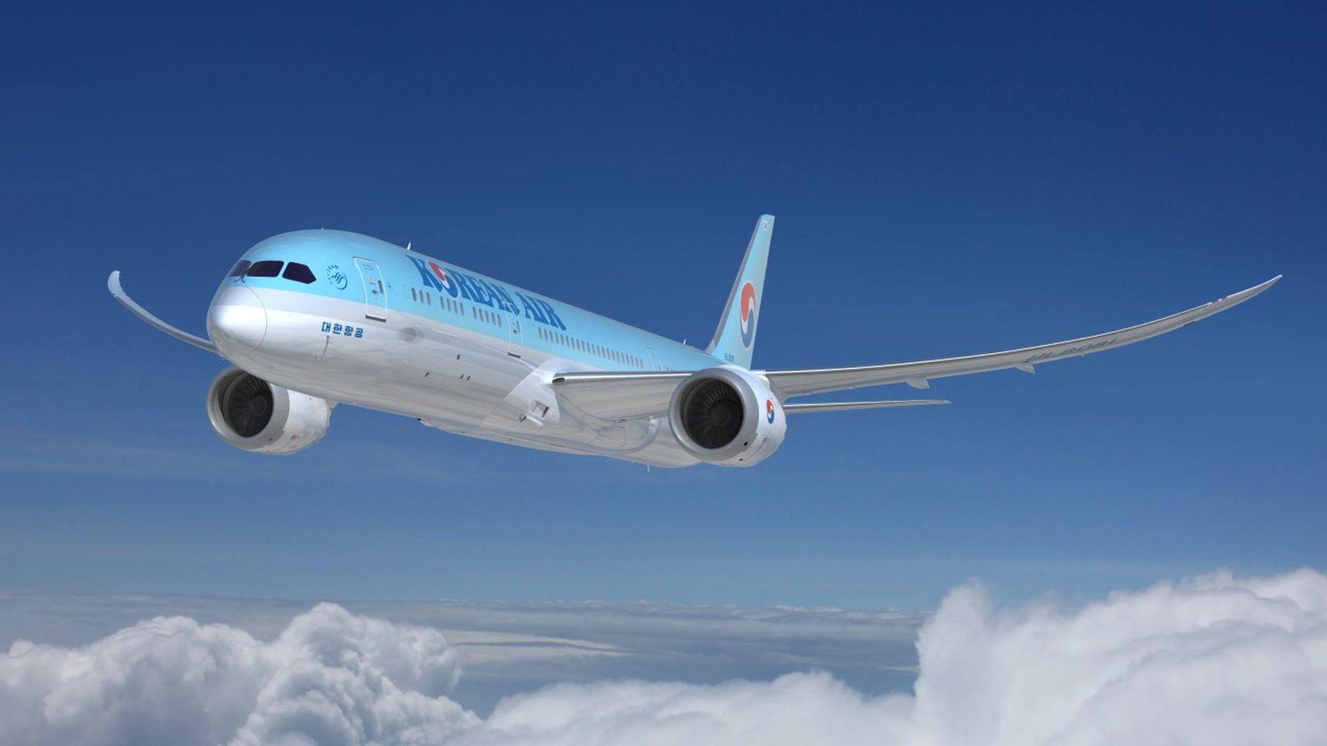 Boeing 787-9 v barvách Korean Air. Foto: Korean Air