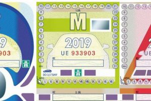Podoba dálničních známek na rok 2019. Foto: Ministerstvo dopravy