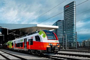 Jednotka Siemens Desiro ML ecojet s bateriovým pohonem. Foto: Siemens