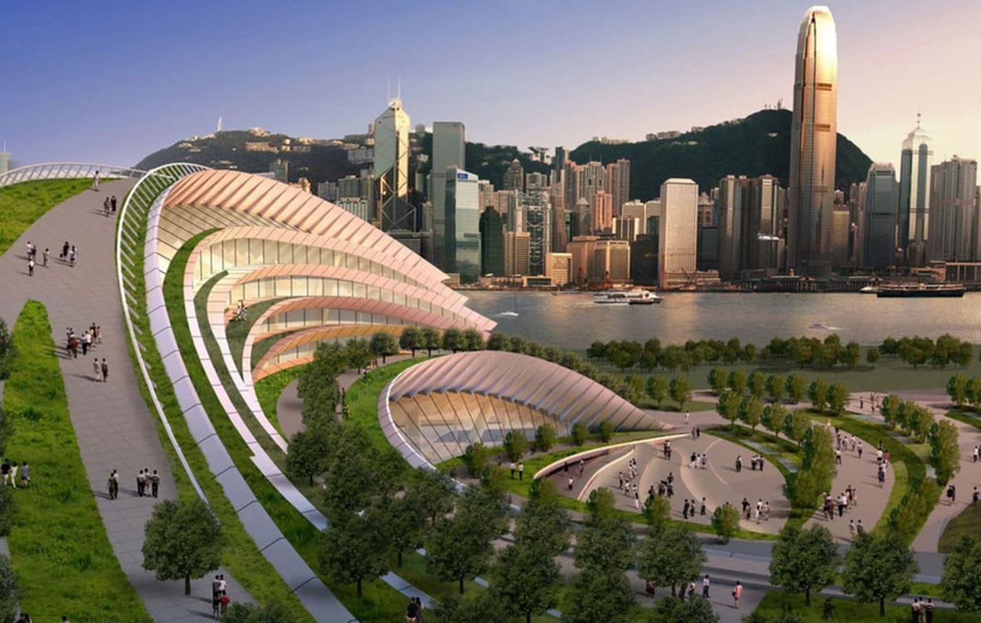 Vizualizace nového nádraží West Kowloon v Hongkongu. Foto: MTR