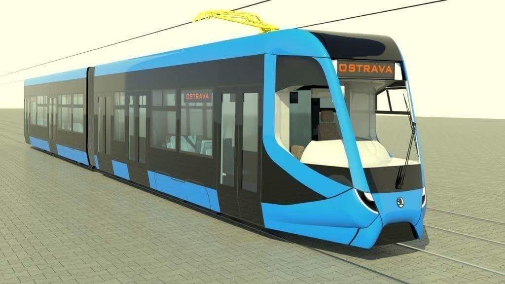 Vizualizace tramvaje ForCity Smart pro Ostravu. Pramen: DPO
