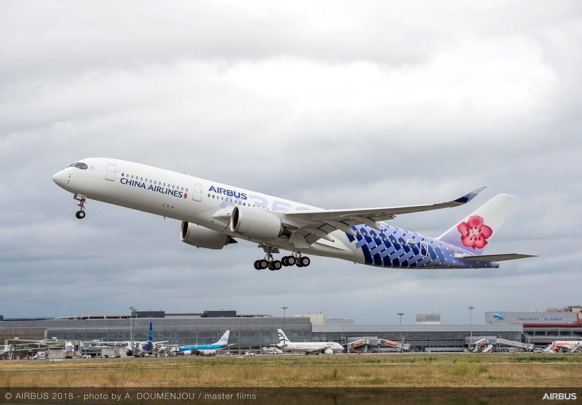 China Airlines převzaly poslední A350-900, má speciální zbarvení. Foto: Airbus