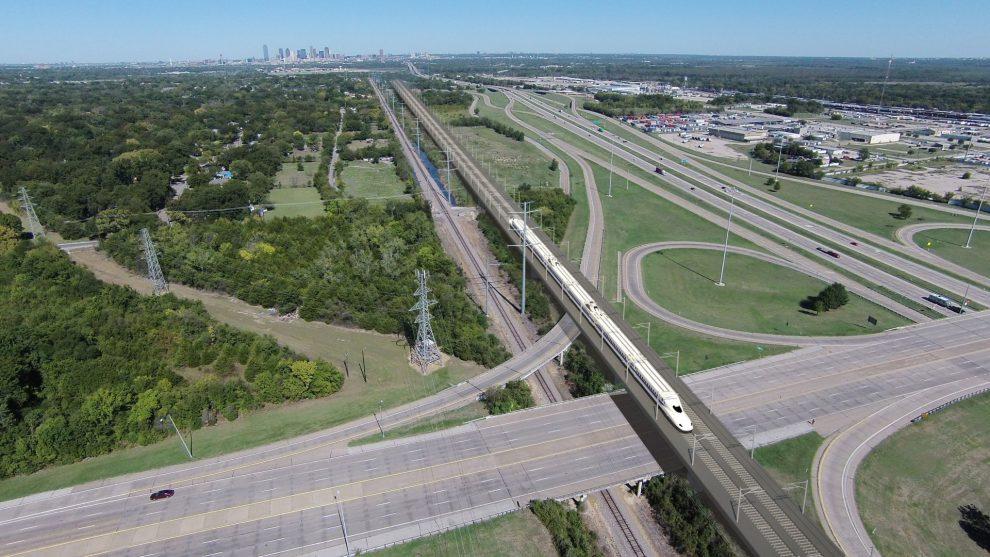 Vizualizace vysokorychlostní trati v Texasu. Foto: Texas Central