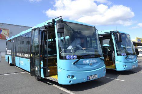 Elektrobusy SOR v MHD Bílína. Autor: Arriva