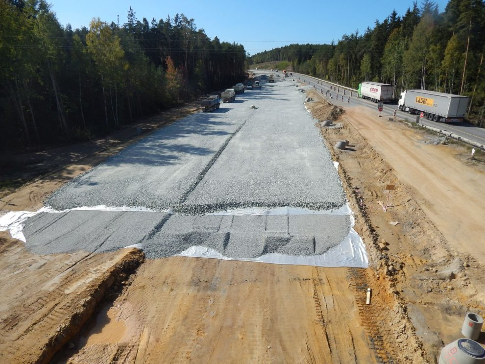 Výstavba D3 severně od Českých Budějovic. Autor: Zdopravy.cz/Jan Šindelář