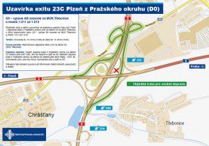 Objízdná trasa pro osobní auta pro nájezd nad D5. Foto: ŘSD