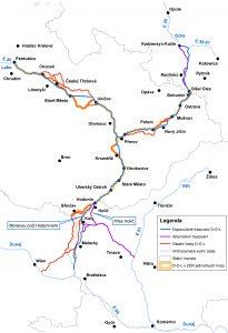 Kanál Dunaj - Odra - Labe. Pramen: MDČR