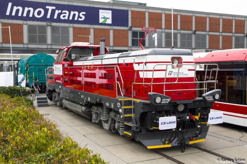 Česká lokomotiva EffiShunter 1000 na veletrhu Innotrans v Berlíně. Autor: CZ Loko