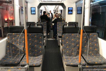 Interiér nové tramvaje pro rnv. Foto: Škoda Transportation