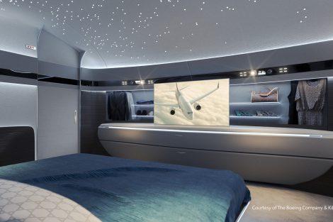 Interiér Genesis pro BBJ MAX. Foto: Boeing