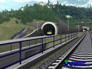 Vizualizace tunelu z Prahy do Berouna z roku 2007. Foto: Sudop Praha
