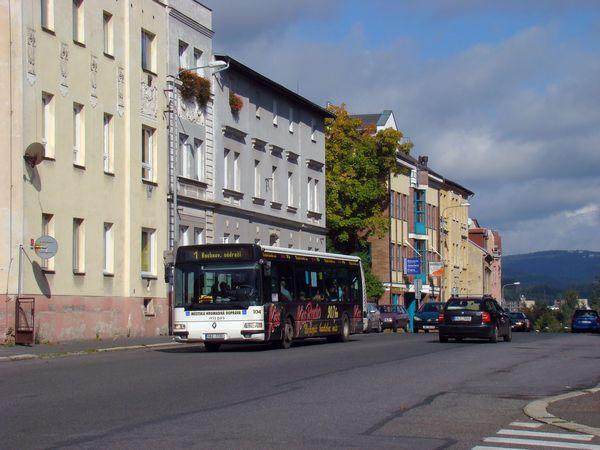 Autobus MHD v Jablonci nad Nisou. Foto: Regionální rada NUTS2 Severovýchod