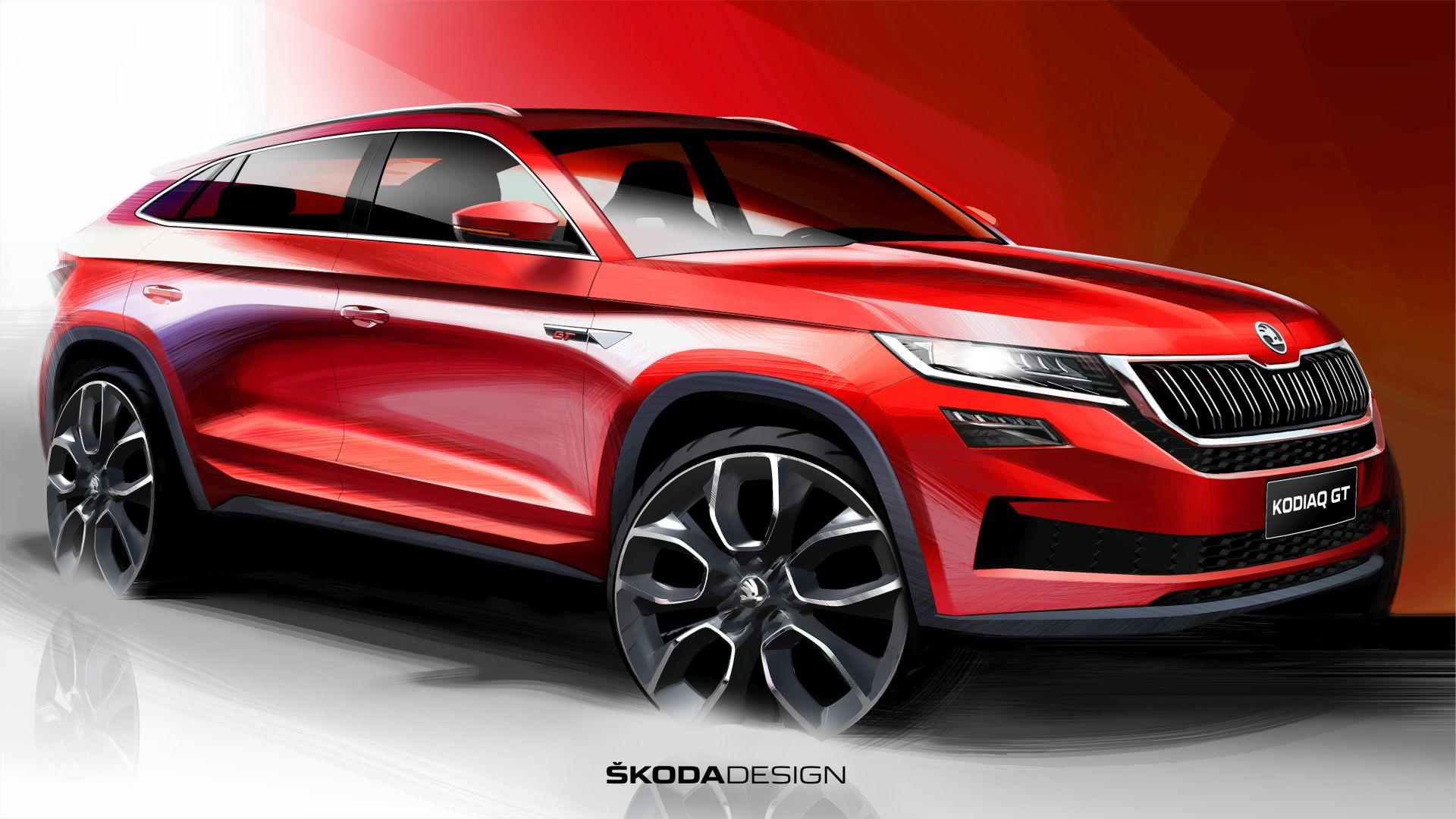 První skica modelu Škoda Kodiaq GT. Foto: Škoda Auto
