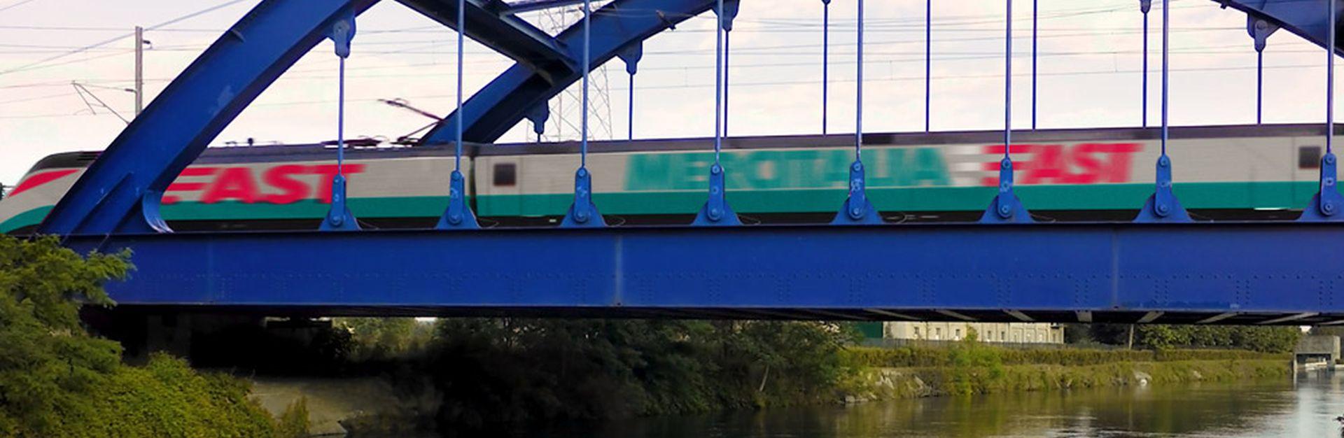 Jednotka ETR500 předělaná pro přepravu zboží. Foto: Mercitalia