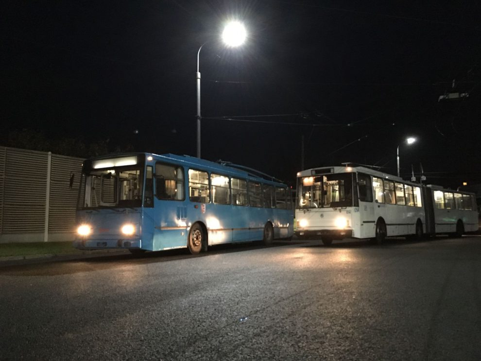 Trolejbusy Škoda 14 Tr a 15 Tr v Opavě. Foto: Libor Hinčica