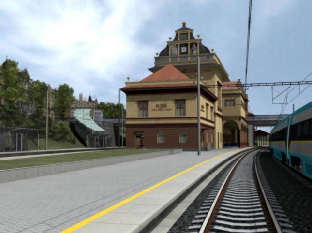 Vizualizace stanice Plzeň - Jižní předměstí. Foto: SŽDC