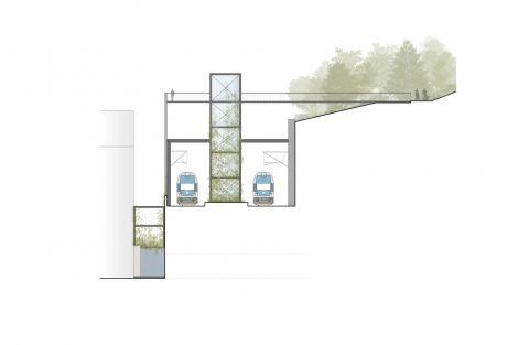 Zákres umístění zastávky v Karlíně. Foto: Unit architekti