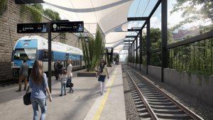 Vizualizace zastávky v Karlíně. Foto: Unit architekti