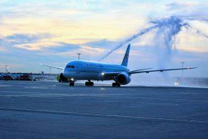 Boeing 787 Dreamliner společnosti Korean Air v Praze. Foto: Michael Holeček