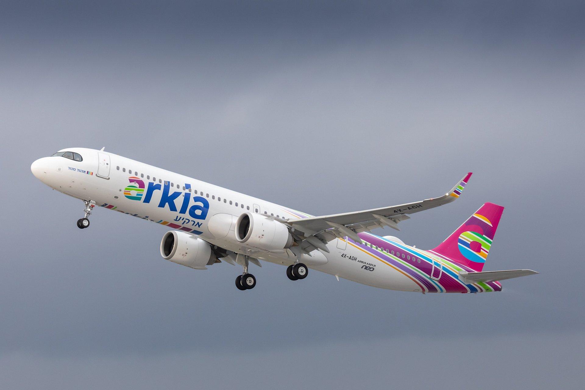 A321LR společnosti Arkia na odletu z Hamburku. Foto: Airbus