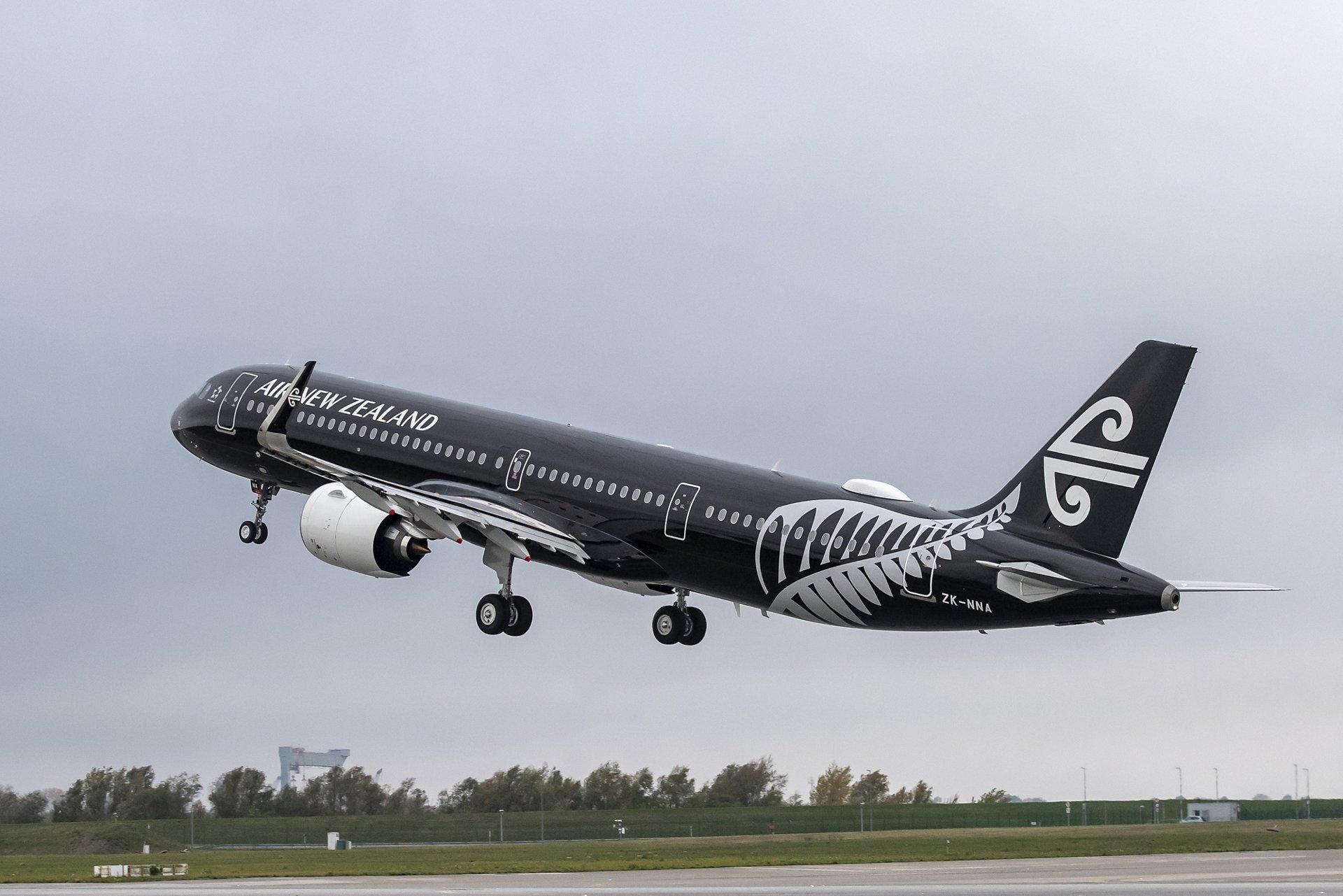 Airbus A321neo v černém nátěru pro Air New Zealand. Foto: Airbus