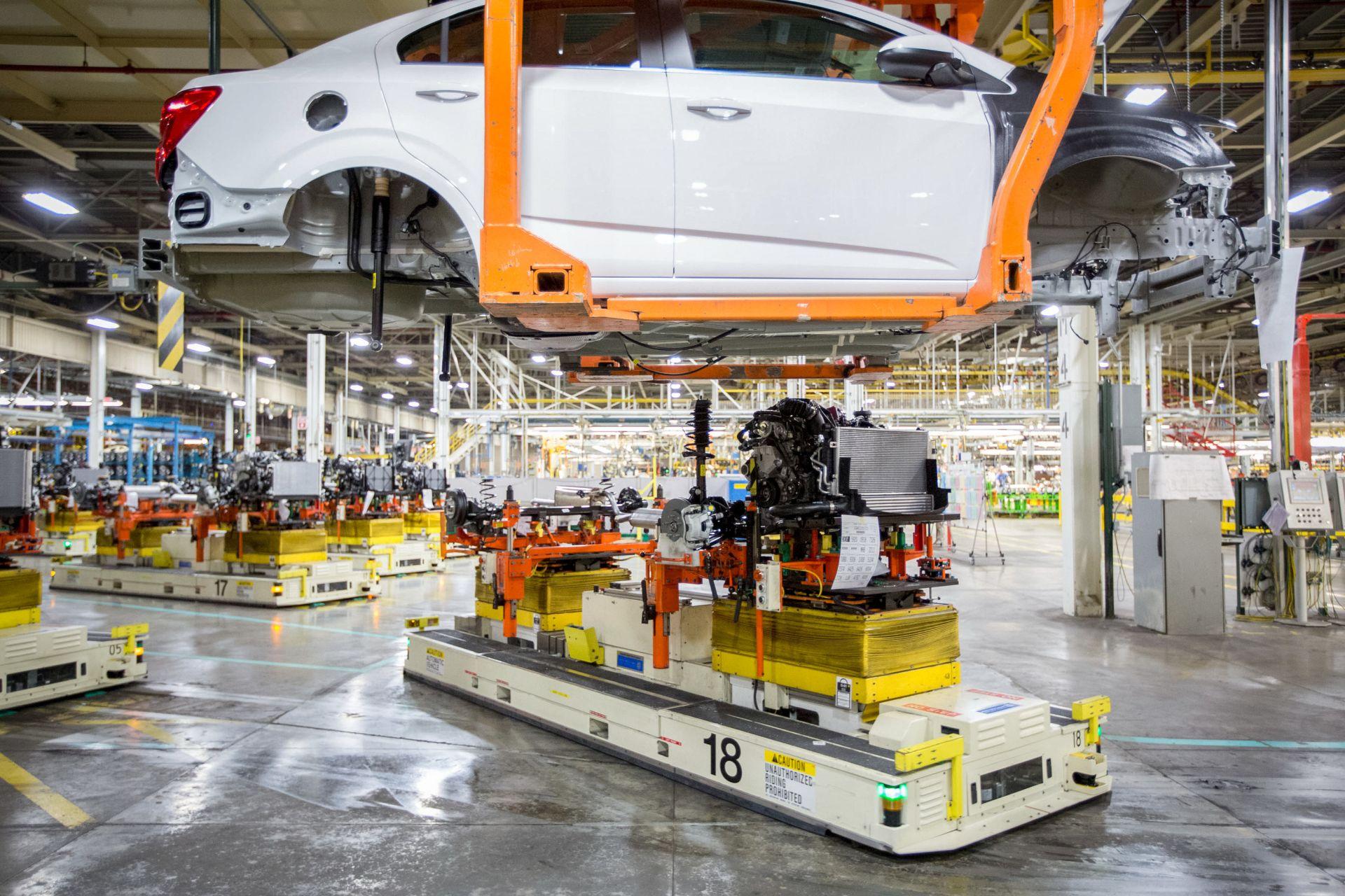 Automatizovaná výroba vozidel v General Motors. Foto: GM