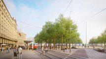 Návrh nové podoby Vítězného náměstí. Pramen: IPR Praha