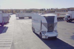 Autonomní náklaďák T-pod. Pramen: DB Schenker, Einride