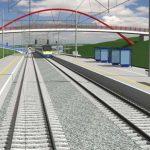 Vizualizace vysokorychlostní trati mezi Brnem a Ostravou u Blažovic. Foto: SŽDC