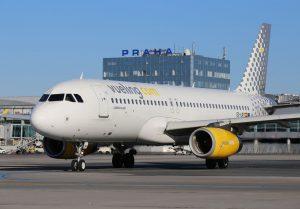 Letadlo Airbus A320 společnosti Vueling na pražském letišti. Autor: Letiště Praha