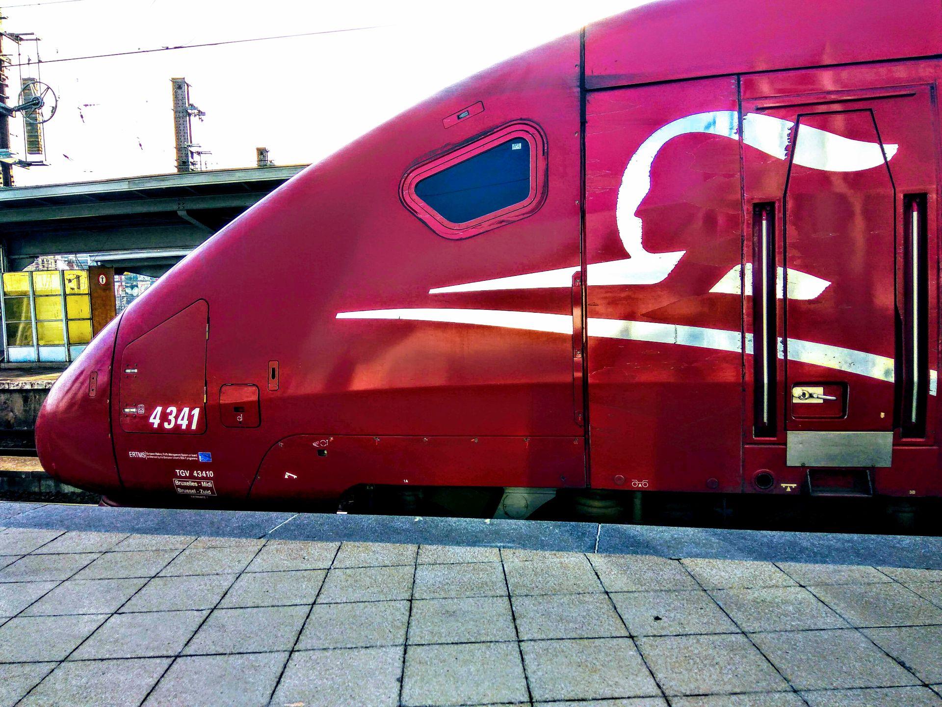 Jednotka Thalys PBKA na nádraží v Bruselu. Foto: Jan Sůra