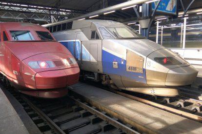 Brusel jako křižovatka rychlovlaků. TGV do Montpelier a Thalys do Paříže. Foto: Jan Sůra